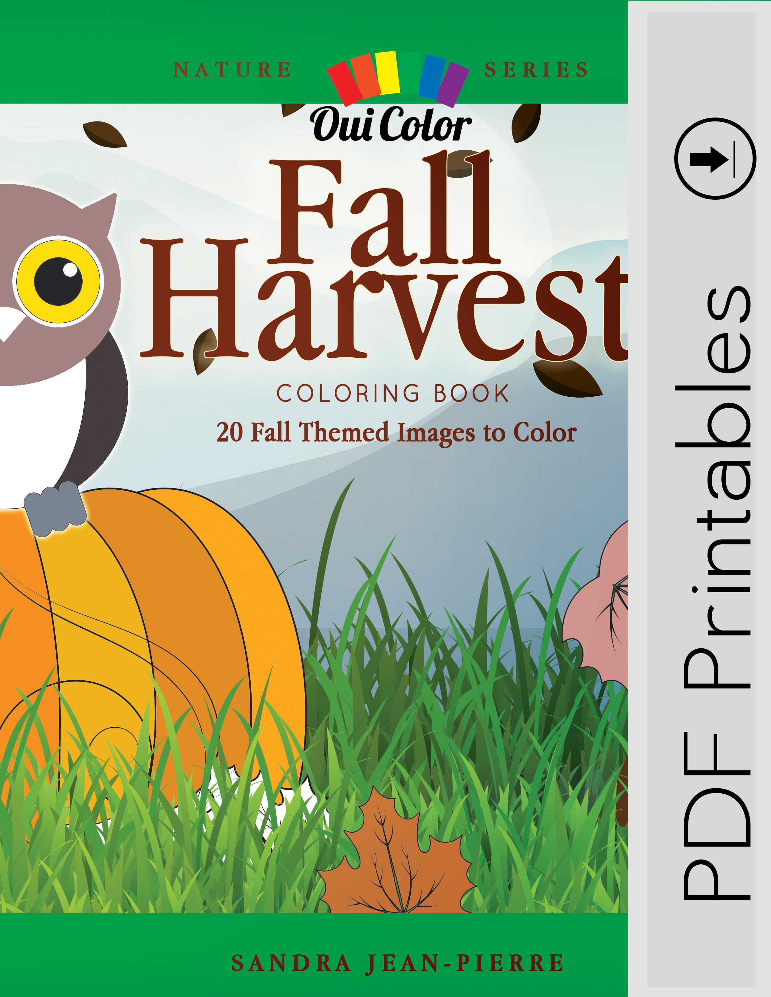 Fall Harvest Pdf Oui Color Coloring Books